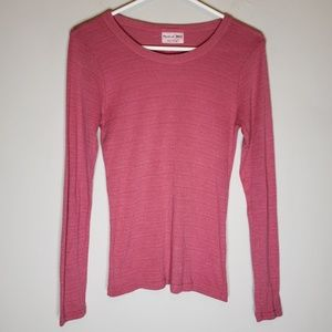 Michael Stars Pink Long Sleeve Top One Size